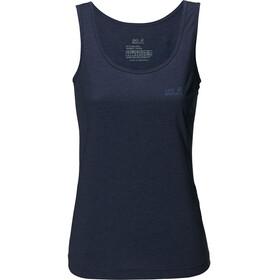 Jack Wolfskin Crosstrail Mouwloos Shirt Dames blauw